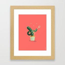 CACTUS BAND / The Guitar Framed Art Print