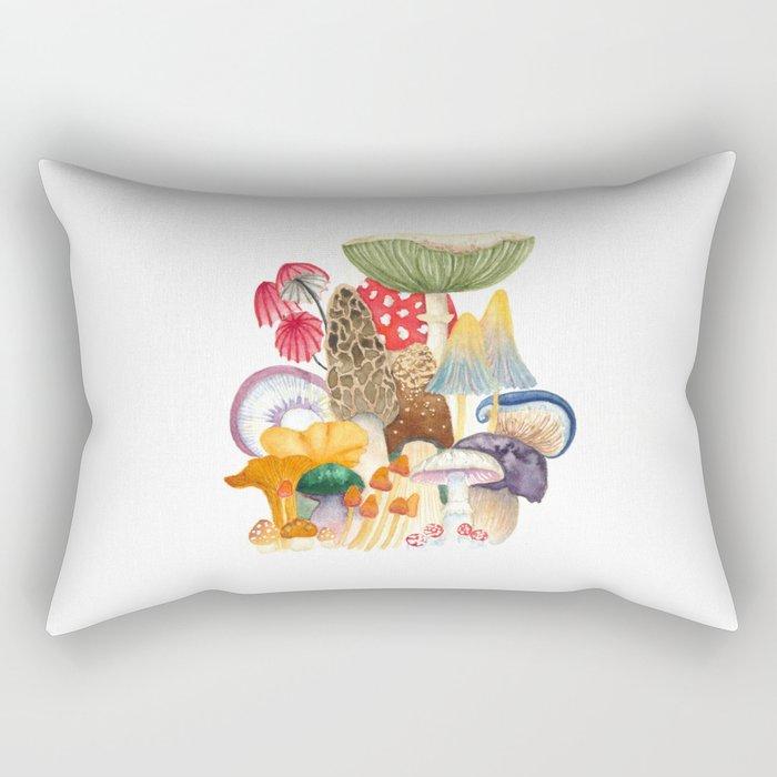 Woodland Mushroom Society Rectangular Pillow