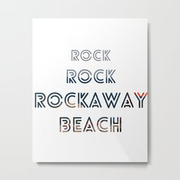 Rock, Rock, Rockaway Beach Metal Print