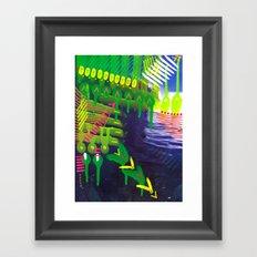 Wave green Framed Art Print