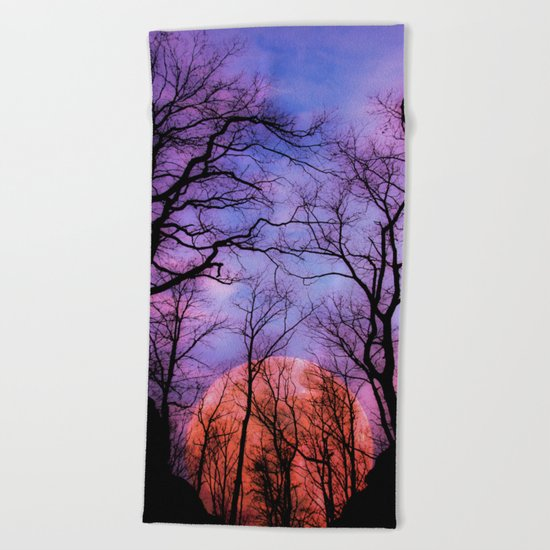 Moonrise Canyon Beach Towel