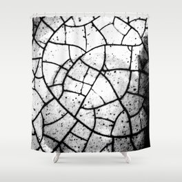 Crackled texture Shower Curtain