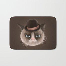 Sad cat Bath Mat