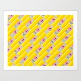 Pencil Pattern Art Print
