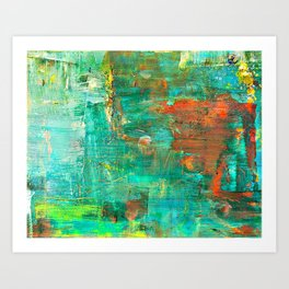 Mr Teal & Mrs Orange Art Print