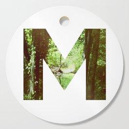 """M"" Initial Forest Cutting Board"