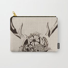 Antler Bouquet Tan Carry-All Pouch
