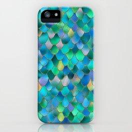 Summer Ocean Metal Mermaid Scales iPhone Case