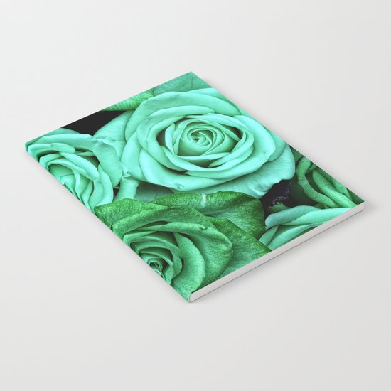 Sea Green Roses Notebook
