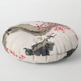 Japan Crane Fishing Floor Pillow