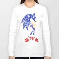 sonic Long Sleeve T-shirts featuring Typography SONIC! by KeenaKorn