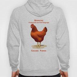Funny Rhode Island Red Hen Fowl Language Chicken Farmer Hoody