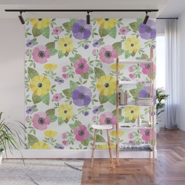 Spring Bouquet Watercolor Wall Mural
