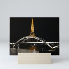 Eiffel Tower At Night 7 Mini Art Print