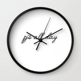 pjs all day Wall Clock