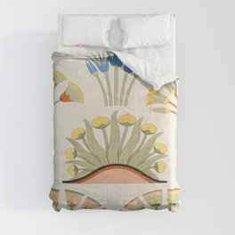 Egyptian plants and flowers Comforters