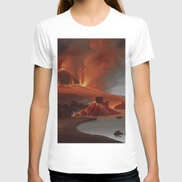 MOUNT VESUVIUS Torre del Greco Destruction 1794 Naples Italia T-shirt