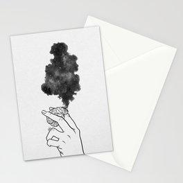 Burning mind. Stationery Cards