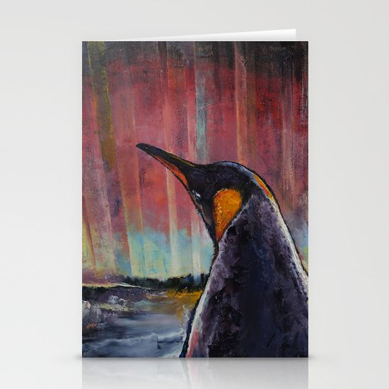 Aurora Penguin Stationery Cards