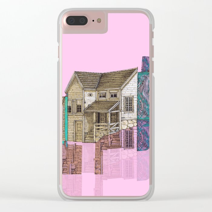 house defromation Clear iPhone Case