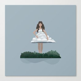 Cloud and woman Canvas Print