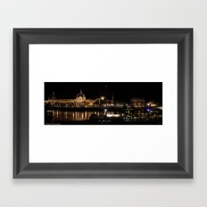 City of Lyon at night.  Framed Art Print
