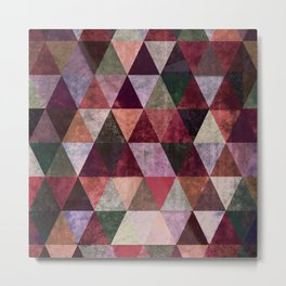 Abstract #480 Grunge Triangles #2 Metal Print