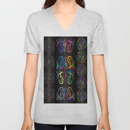 Colorful ornament Unisex V-Neck