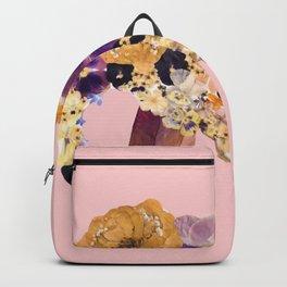 Floral Elephant - pink Backpack