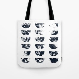 Josie Navy Blue Half Moon Abstract Tote Bag