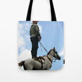 Man and Animal Tote Bag