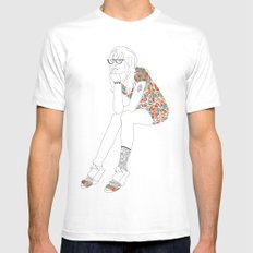 Josie White Mens Fitted Tee MEDIUM