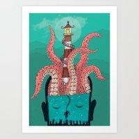 sleep Art Prints featuring Sleep by Arron Croasdell
