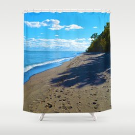 Point Pelee National Park Trails in  Leamington, Ontario, Canada Shower Curtain