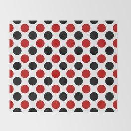 RED BLACK CIRCLE Throw Blanket