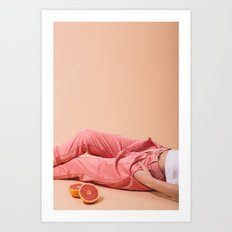 Legs with Grapefruit Art Print