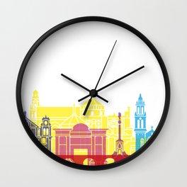 Cordoba skyline pop Wall Clock