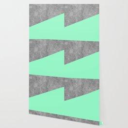 Geometry 101 Mint Meringue Wallpaper
