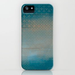 ABUR with Gold on Turquoise iPhone Case