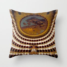 Royal Theatre of Saint Charles Throw Pillow