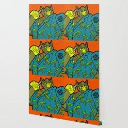 Opti-Maui Prime - tiki pop art Wallpaper
