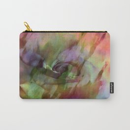Rainbow Rose Floral Abstract Carry-All Pouch