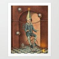 theatre Art Prints featuring Mystic Theatre by julian de narvaez