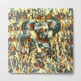 AnimalArt_Elephant_20170905_by_JAMColorsSpecial Metal Print