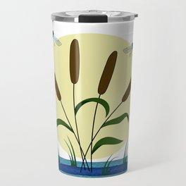 Cattails and Dragonflies Travel Mug