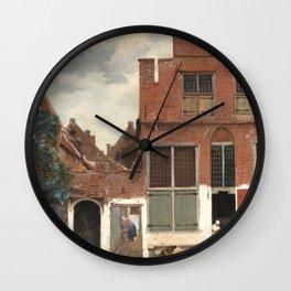 Johannes Vermeer The Little Street Wall Clock