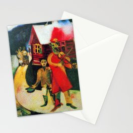 Marc Chagall The Violinist Stationery Cards