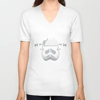 vodka V-neck T-shirts featuring Trooper's cloned vodka by BomDesignz