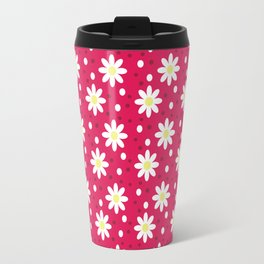 daisy dots light red Travel Mug