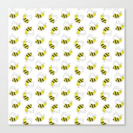 Bumble Bee Pattern Canvas Print